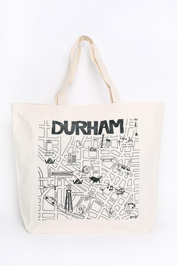 Map Tote Durham beach tote
