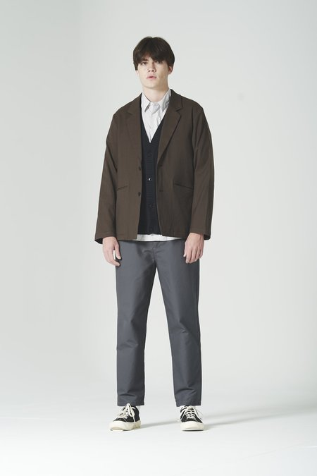 Still By Hand W/N Relaxed 2B Jacket - Brown