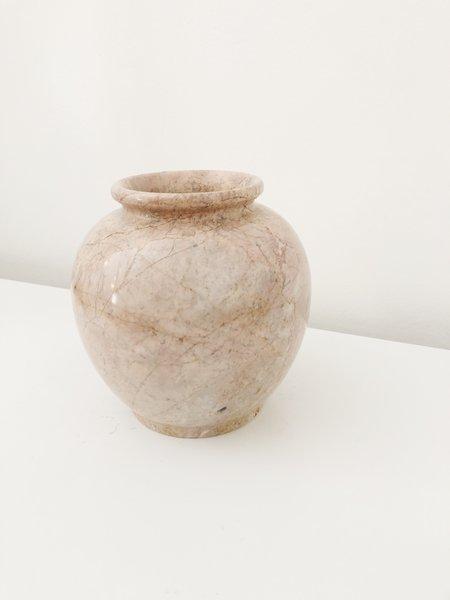 Vintage Marble Vase - Pink