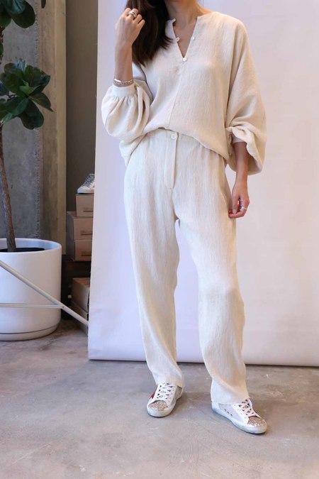 Raquel Allegra Cropped Pant - Cream