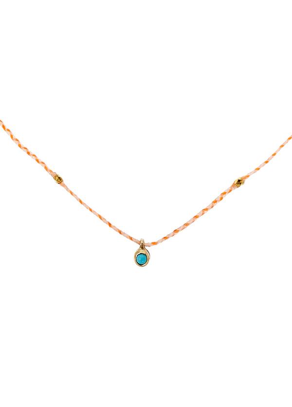 Scosha Carnival gold-plated turquoise necklace