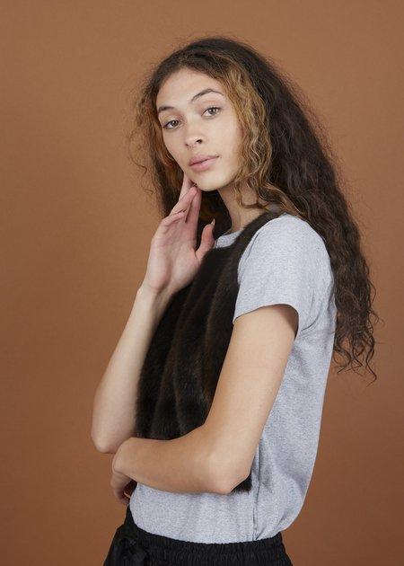 Harvey Faircloth Fur Front T-Shirt - Gray