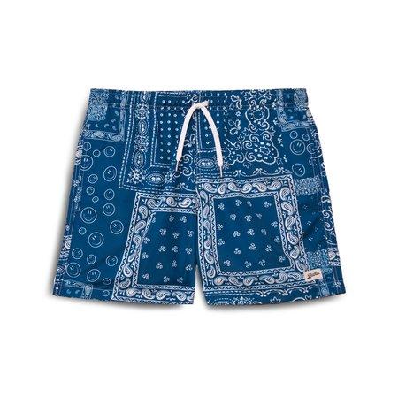 Bather Print swim trunk - blue bandana