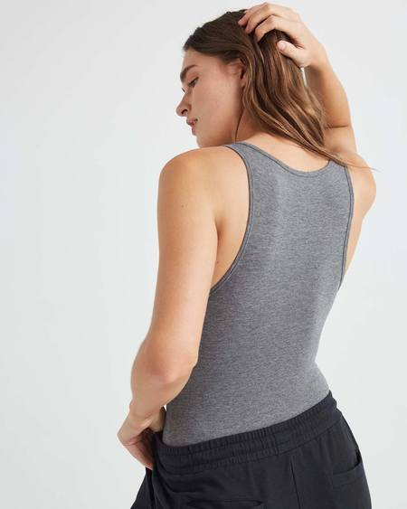 Richer Poorer bodysuit - heather grey