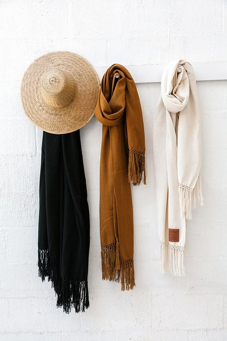 Pampa Cotton Oversized Scarf - Black