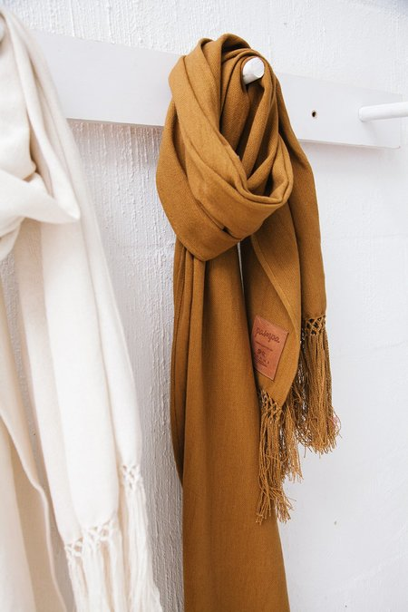 Pampa Cotton Oversized Scarf - Tobacco