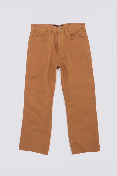 Assembly Crop  Work Pants - Light Brown