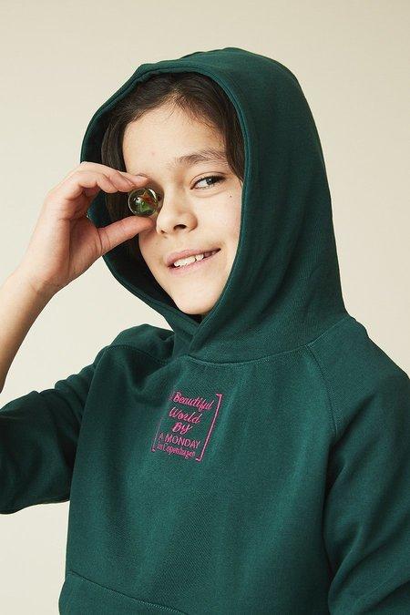 Kids kodomo a monday in copenhagen vic hoodie - forest