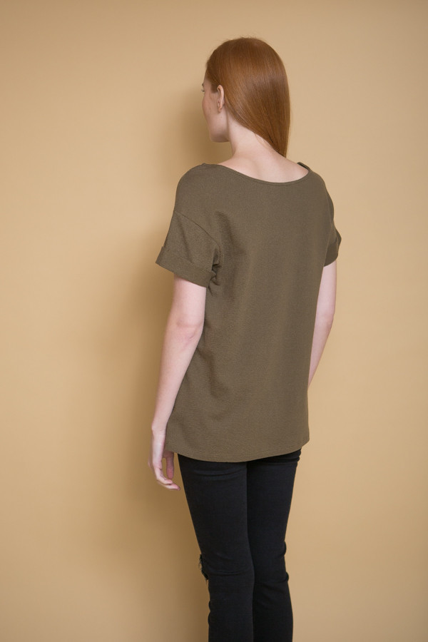 Ali Golden Roll Sleeve T-Shirt / Olive