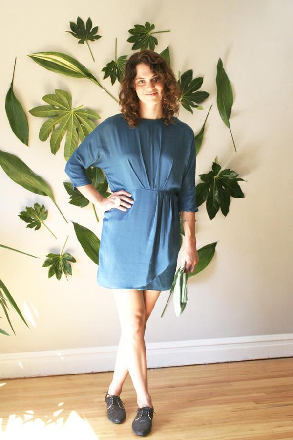 COVET MARINE WRAP DRESS