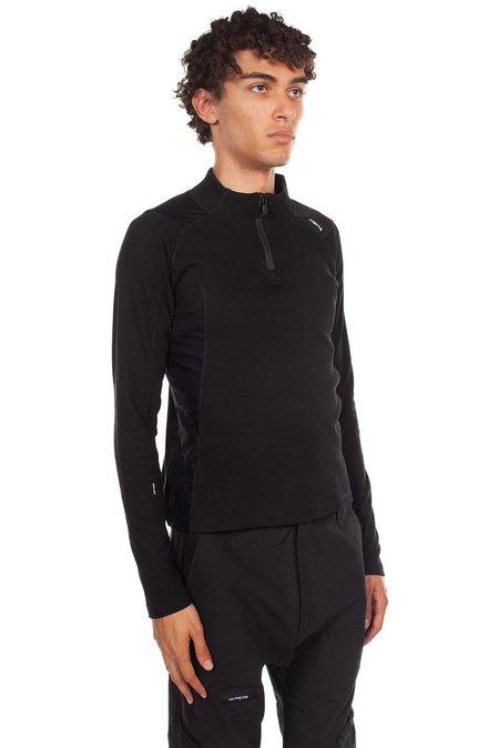 C2H4 Intervein Long Sleeve T Shirt - Black