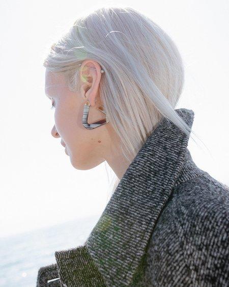 Rachel Comey Webster Hoop Earring - Striped Shell