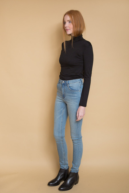 Cheap Monday Second Skin High Rise Jeans / Stonewash Blue