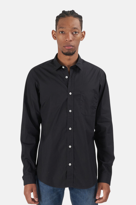 President's Popeline Garment Dyed Dress Shirt - Black