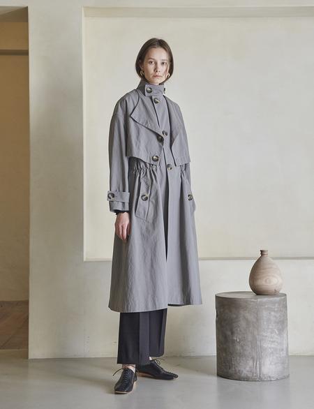 Maison De Ines 3-way Trench Coat - Gray