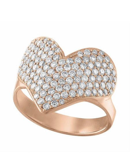 Asia Ingalls Pave Heart Ring