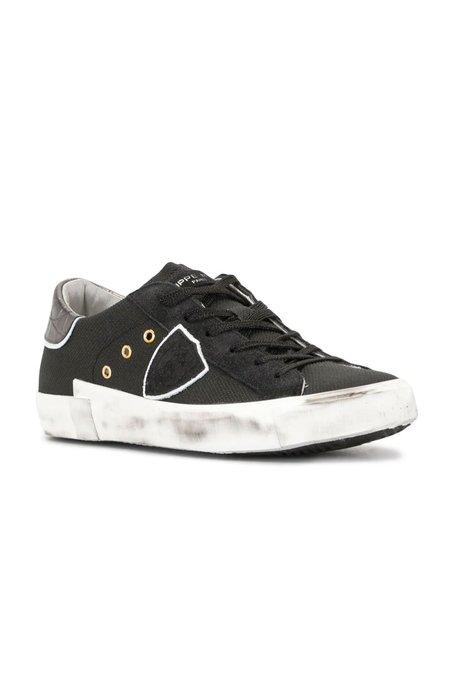 Philippe Model Glitter Noir Sneaker - Metallic Black