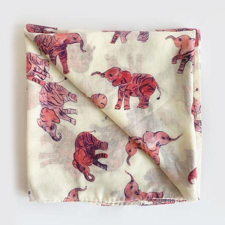 Olivia Wendel Elephant Scarf - Pink
