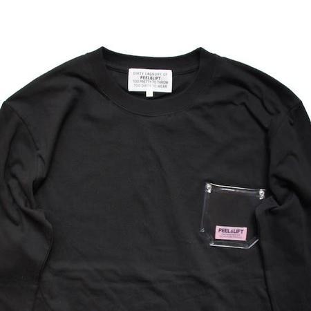 PEEL & LIFT PVC Pocket Long Sleeve T Shirt - Black