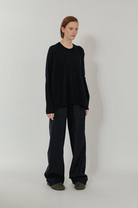 Oyuna Neha Woven Cashmere Trousers - Black