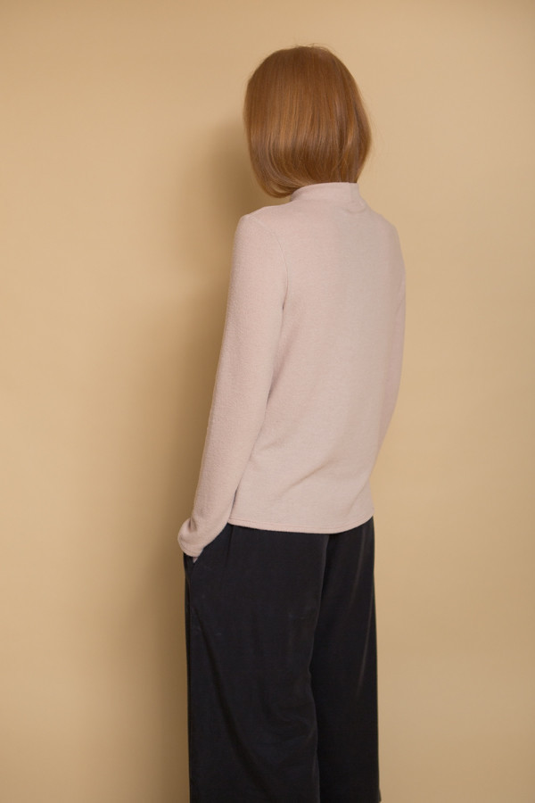 Nytt Mock Neck Top / Natural