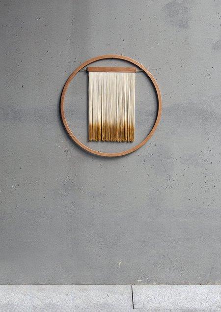 JULIE THÉVENOT 60 SMALL WALL HANGING - wood/cotton/brass