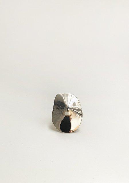 JULIE THÉVENOT ARAPED SMALL RING - White Bronze