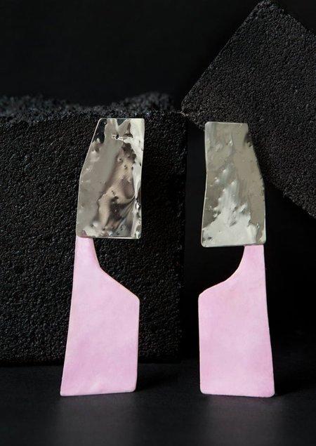 JULIE THÉVENOT CONTRE FORME SERIES #3 EARRINGS - sterling silver