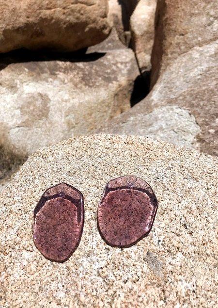 JULIE THÉVENOT REFLECTION MAUVE EARRINGS - Sterling Silver/Lucite