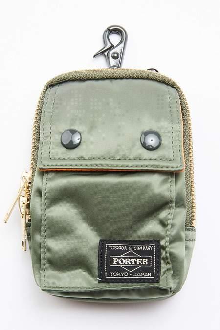 Porter Yoshida TANKER Pouch - Sage Green