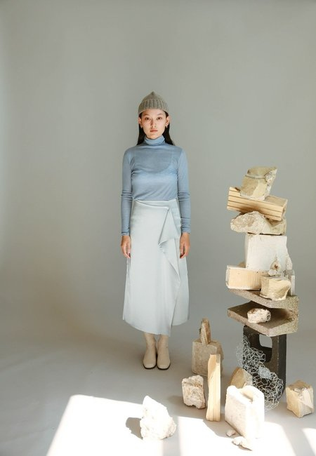JOWA. Wave Silky Skirt - blue