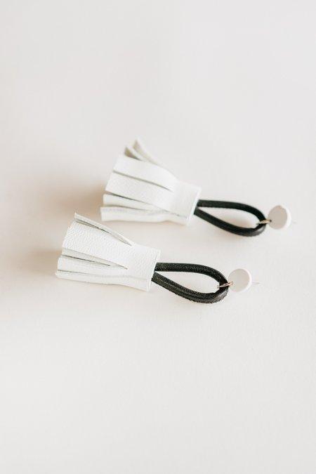 Adder Jewelry Mini Leather Tassel Earrings