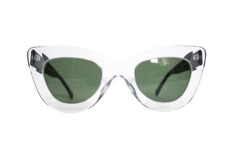 Dusen Dusen Clear Triangle Sunglasses