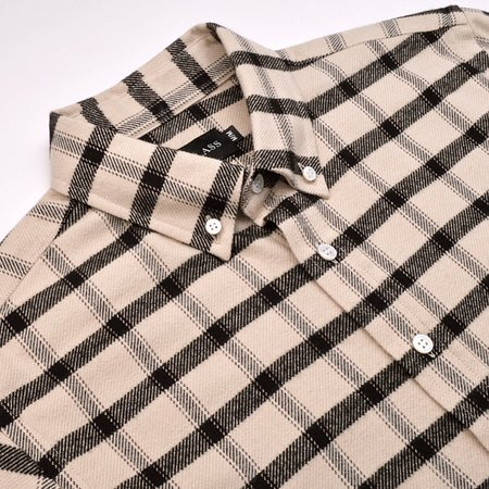 Outclass Blanket Flannel Shirt - Off White
