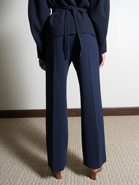 Le 17 Septembre Straight Knit Pant - Navy