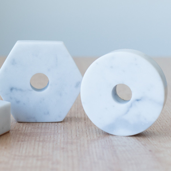 Fort Standard Carrera Marble Candle Holder