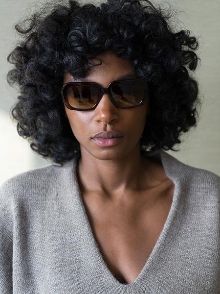Chimi Rectangle Sunglasses - Maple