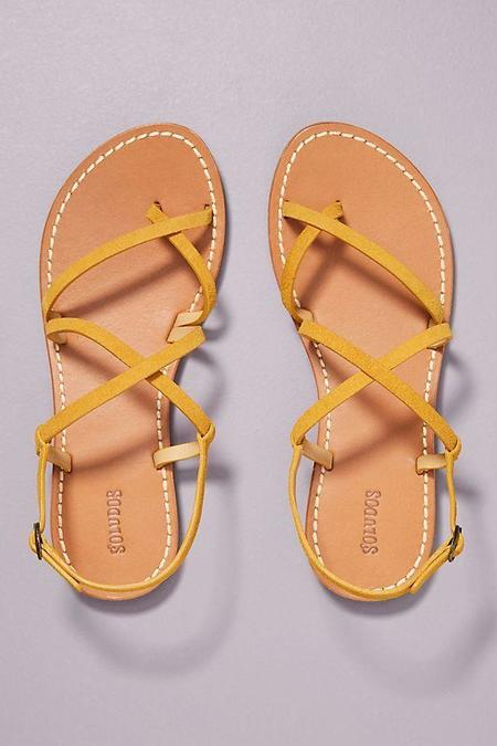 Soludos Zoe Strappy Sandal - Yellow