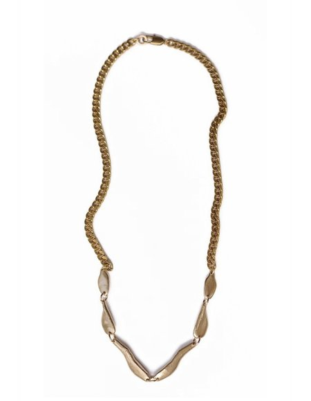 Water & Stone Sea Links Necklace - Brass