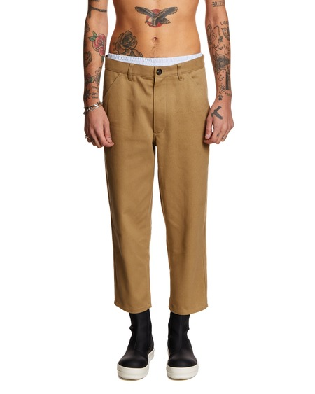 Comme des Garçons Shirt Cropped Twill Trousers - brown