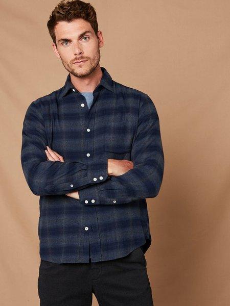 Hartford Paul Canclini Flannel Shirt - Navy