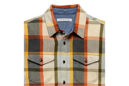 Outerknown Blanket Shirt - Pumpkin Hermosa Plaid