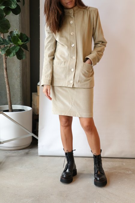 Maryam Nassir Zadeh Wales Skirt - Limestone