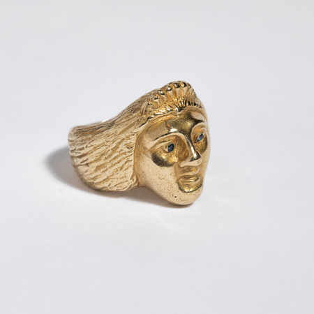 Saint Claude x Freda Ladyface Ring - Brass/Sapphire