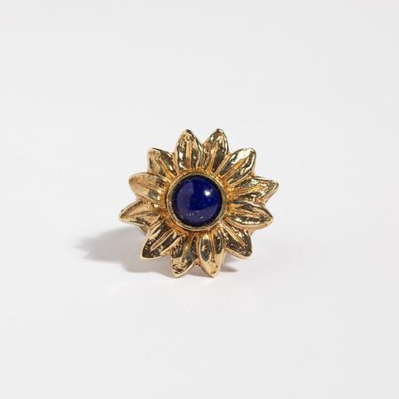 Saint Claude x Freda Sunflower Ring - Brass/Lapis