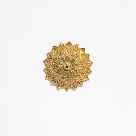 Saint Claude Domed Flower Incense Holder - Brass