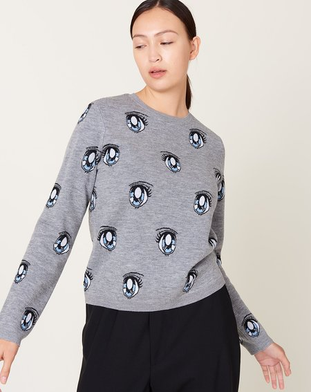 Sandy Liang Uchi Sweater - Grey