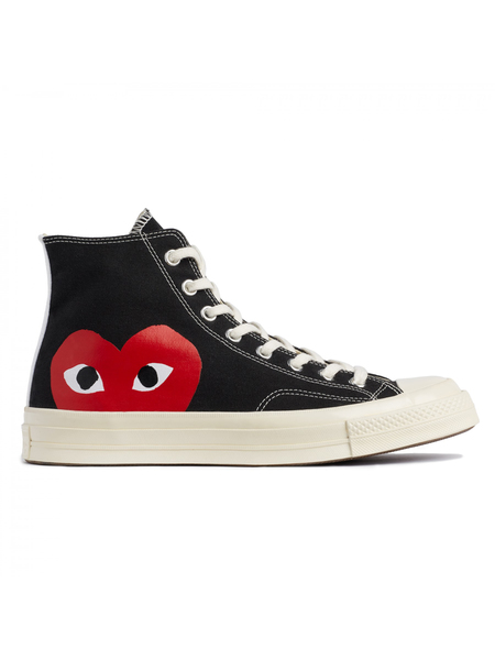 Unisex Play Comme Des Garçons x Converse Chuck Taylor All Star '70 High Sneakers - Black