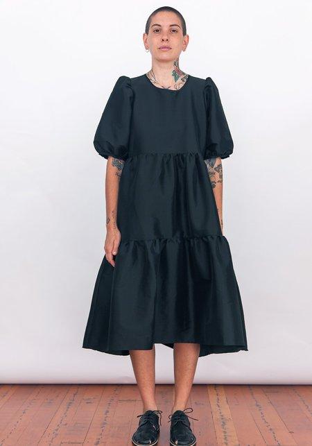 Ali Golden Party Dress - Shiny Black