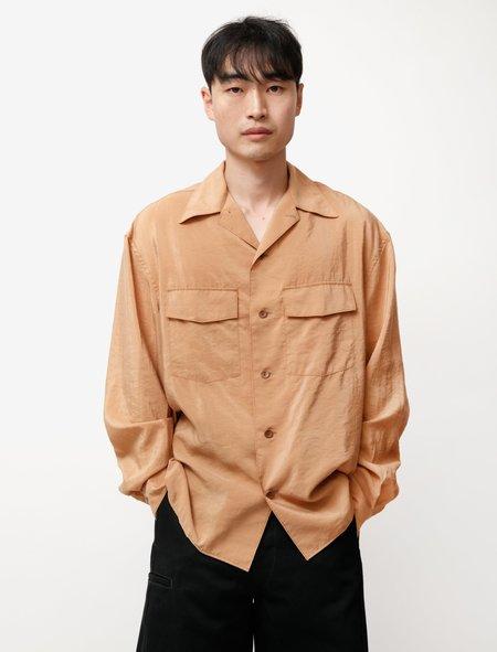 Lemaire Convertible Collar Shirt - Sugar Brown
